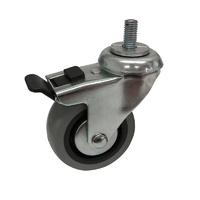 Easyroll 75mm Grey Rubber Castors 45kg 1PC