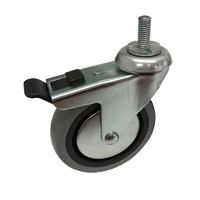 Easyroll 100mm Grey Rubber Castors 55kg 1PC