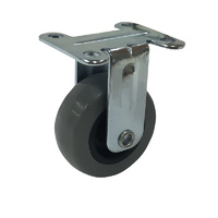 Easyroll Grey Rubber 50mm Grey Rubber Castors 40kg