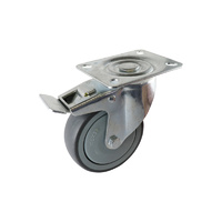 Easyroll 100mm Grey Rubber Castors 100kg 1PC