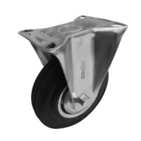 MoveIt 125mm Black Rubber Castors 100kg 1PC
