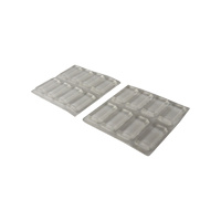 Surface Gard Rectangular Clear Adhesive Bumpers- H