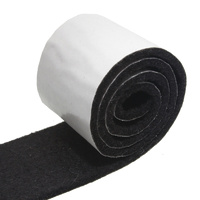Feltgard Black 500mm Adhesive Felt Roll for Hard S