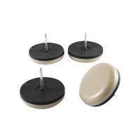 Surface Gard 32mm Grey Nail-On Round Slide & Glide