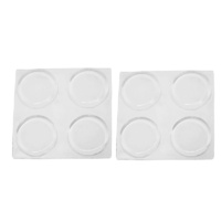 Feltgard 19mm Clear Adhesive Round Bumpers 8PCS