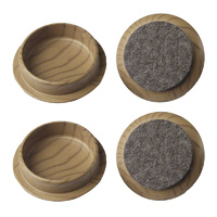 Surface Gard 44mm Brown Felt Based Round Castor Cu