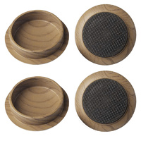 Surface Gard 44mm Brown Non-Slip Round Castor Cups