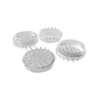 Surface Gard 44mm Clear Spiked Round Castor Cups 4