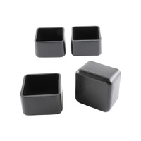 Surface Gard 25mm Black External Square Chair Tips