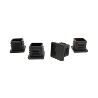 Surface Gard 19mm Black Internal Square Chair Tips