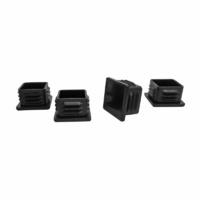 Surface Gard 25mm Black Internal Square Chair Tips