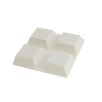 Feltgard 19x19mm White Adhesive Square Bumpers 6PC