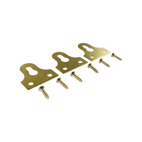 Everhang Key Hole Plates Framing Supplies - Brass