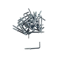 Everhang Square Hooks - Silver 25PCS