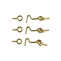 Everhang Hook and Eyes - Brass 3PCS