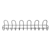 Adoored 6 Hook Rails - Satin chrome 1PC
