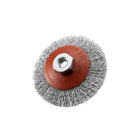 SIT Steel Crimped Conical Brush- 95mm x M10 1PC