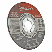 Rocket 115mm Cutting Discs - Masonry Suits Angle G