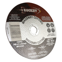 Rocket 180mm Cutting Discs - Masonry Suits Angle G