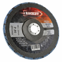 Rocket 180mm Flap Discs 80 Grit Suits Angle Grinde