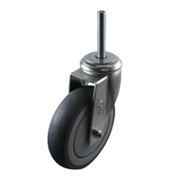 Easyroll 125mm Grey Rubber G6 Series Castors 100kg