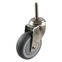 Easyroll 75mm Grey Rubber G7 Series Castors 80kg 1