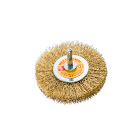SIT Brass Crimped Wire Wheel- 100mm x M6 1PC