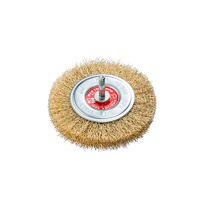 SIT Brass Crimped Wire Wheel- 80mm x M6 1PC