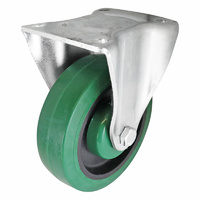 Easyroll 125mm Green Reflex Rubber I3 Series Casto