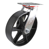 Easyroll 200mm Cast Iron J2 Series Castors 455kg 1