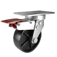 Easyroll 150mm Cast Iron J7 Series Castors 500kg 1