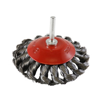 SIT Steel Twist Knot Conical Brush- 100mm x M6 1PC