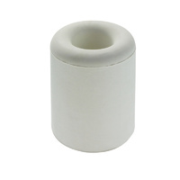 Adoored Round Rubber Door Stop 43mm(H) WHT 1PC