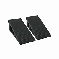 Adoored Rubber Door Wedge 25mm(H) BLK 2PCS