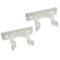 Adoored Plastic Door Clip 40mm(L) WHT 2PCS