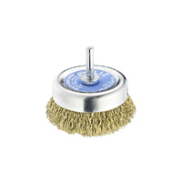 SIT Brass Crimped Cup Brush- 75mm x M6 1PC