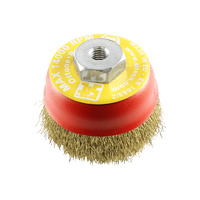 SIT Brass Crimped Cup Brush- 75mm x M10 1PC