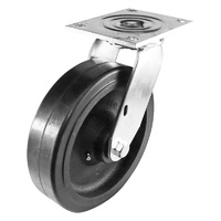 Easyroll 200mm Black Rubber TG Series Castors 535k