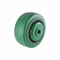 Easyroll 80mm Green Reflex Rubber Wheel Precision