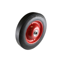 Easyroll 200mm Black Rubber Wheel Ball Bearings 60